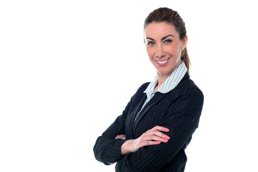 Smiling confident entrepreneur