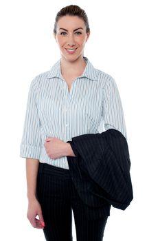 Attractive smiling businesswoman