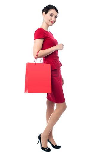 Charming woman on a shopping spree