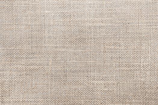 Rustic canvas fabric texture in natural color