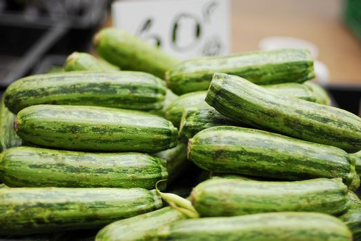 Cucumbers for sale at market