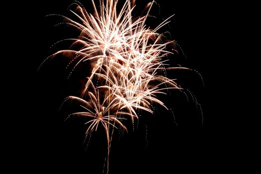 brightly colorful fireworks
