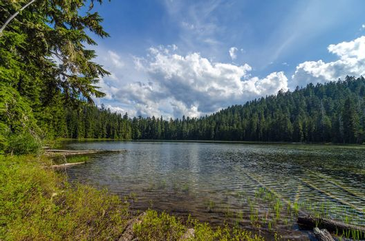 Upper Twin Lake in the Mt. Hood National Forest