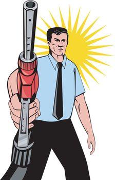 Gasoline Attendant Fuel Pump Nozzle