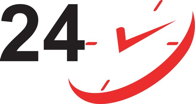 24 Hour Sign and Clock
