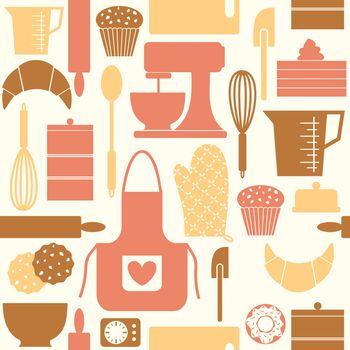Retro Baking Background