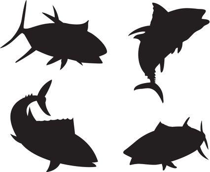 Yellow Fin Tuna Fish Silhouette