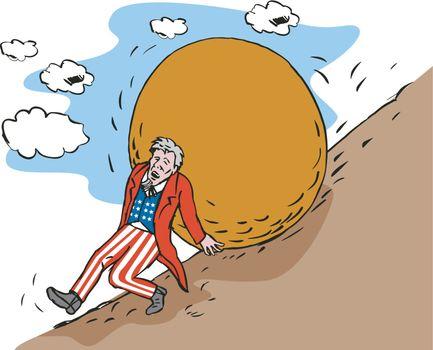 Uncle Sam with Boulder
