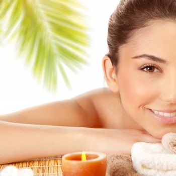 Sexy girl enjoying spa