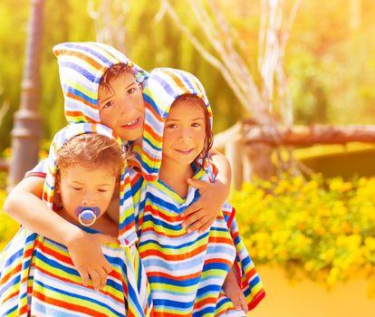 Three funny child