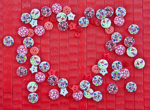 Background with colorful buttons