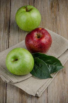 Apples in a napkin