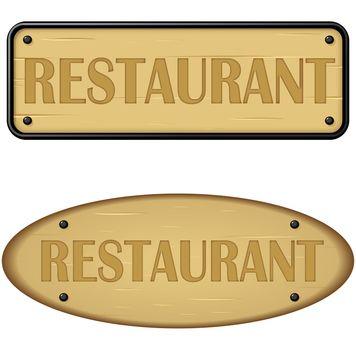 Wood panel of restaurant