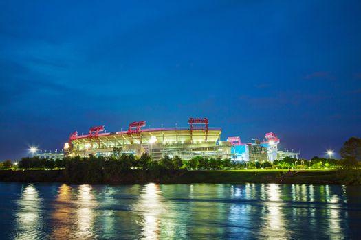 LP Field in Nashville, TN in the evening