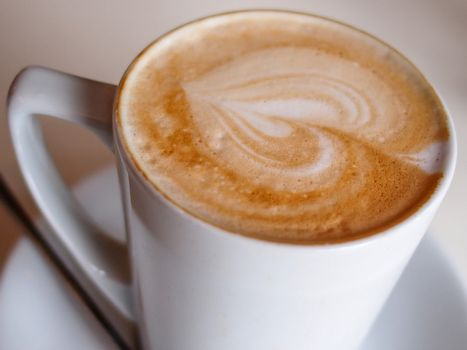 Freshly brewed coffee served