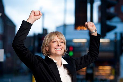 Successful attractive businesswoman
