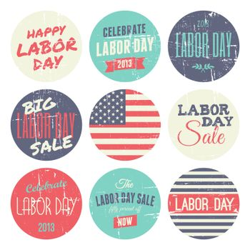 American Labor Day Sickers Collection