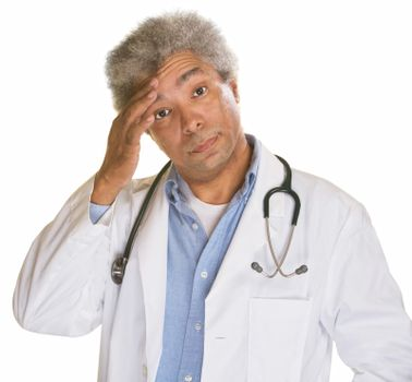 Doctor Scratching Forehead