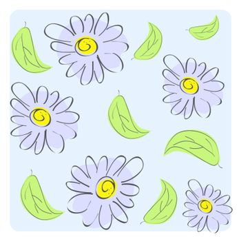 seamless floral background in vector format