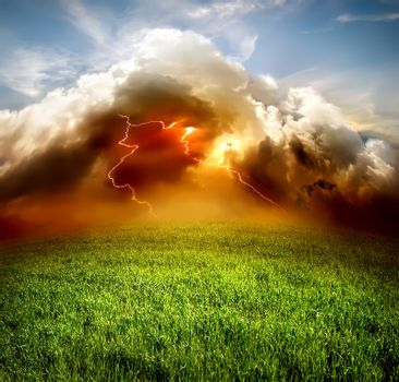 Lightning in the field