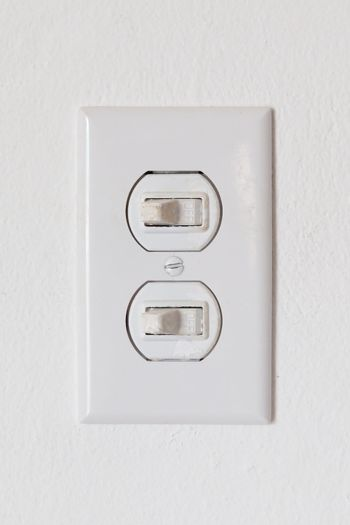 Close-up of an obsolete light-switches