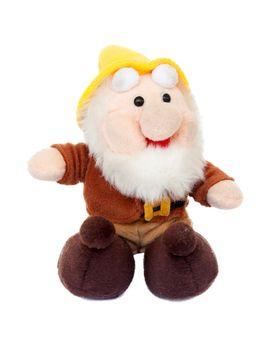 Sitting pluche gnome