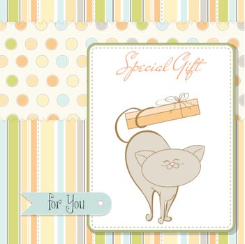 special gift card with cat
