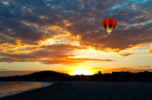 the beautiful sunset in Cabo San Lucas, Mexico