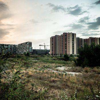 desolate suburb landscape