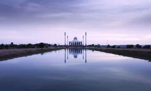Dusk at Central mosque, Songkhla, Thailand