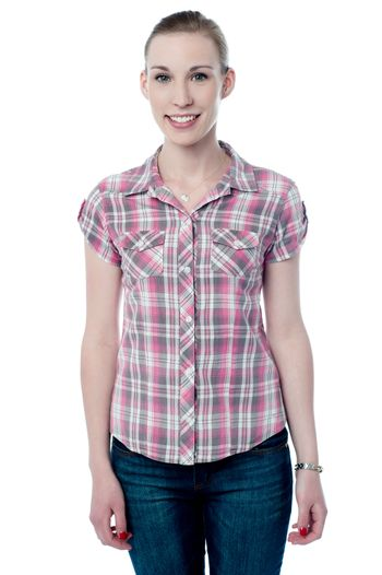 Fashionable young woman in casuals