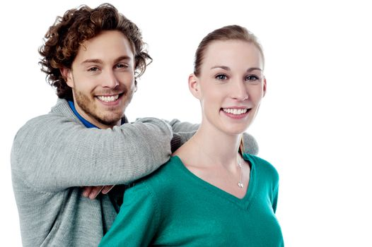 Charming young caucasian couple
