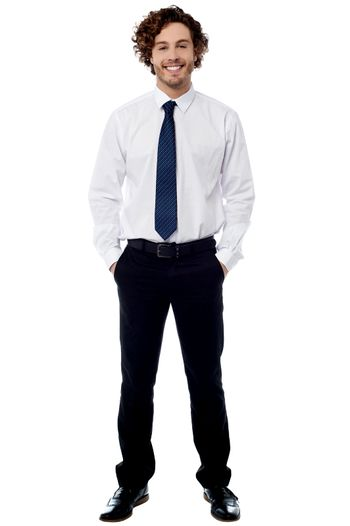 Smart young entrepreneur in formals