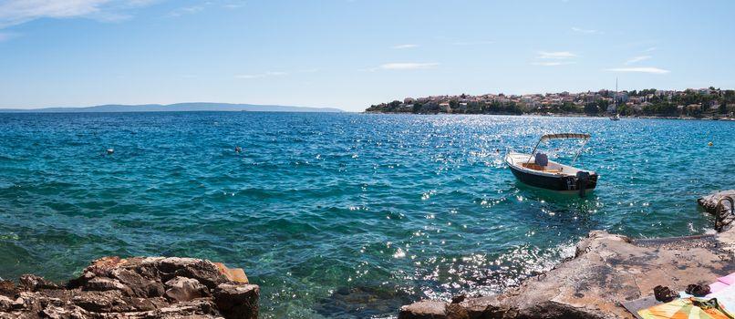 Panorama view from Ciovo Island, Croatia.