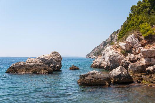Ciovo Island cliff, Croatia.