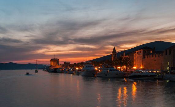 Sunset at Trogir Pier, Croatia