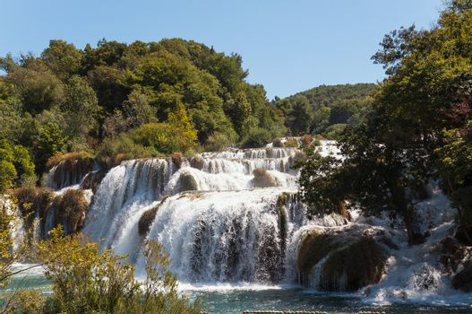 Waterfall in Krka National Park, Croatia