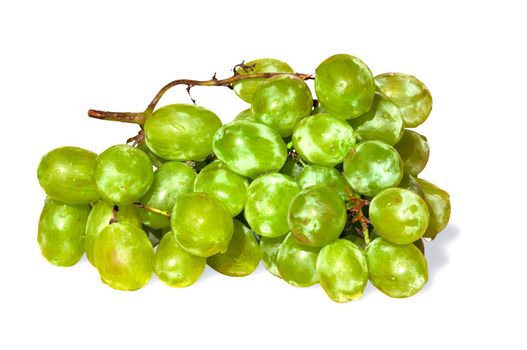 Fresh, wet grapes isolated over white background.