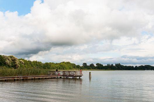 Jetty on Mamry Lake, Masurian Lake District