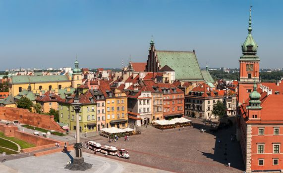 Castle Square with Zygmunt's Column in Warsaw. Poland.