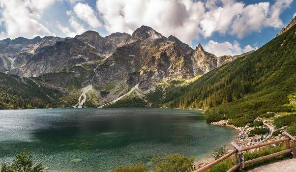 Morskie Oko, largest lake in the Tatra Mountains, Poland.