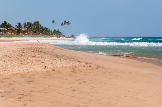 Beach in southern part of Sri Lanka.