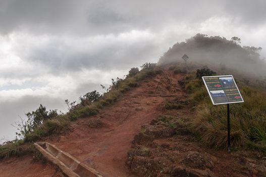 Foggy Little World's End, Horton Plains, Sri Lanka.