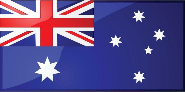 Glossy illustration of the Australian flag