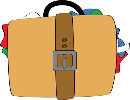 Bulging luggage
