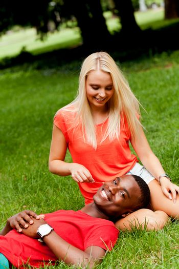young couple in love summertime fun happiness romance outdoor colorful