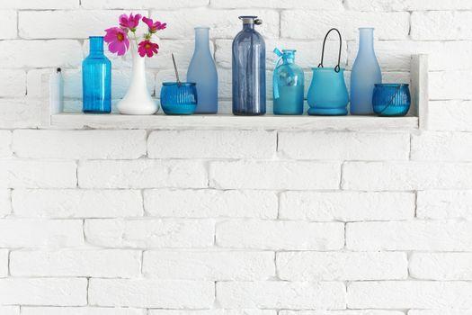 Bottles on a shelf