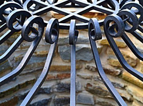 forged iron metal pattern