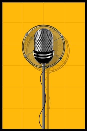 Illustration of a old microphone