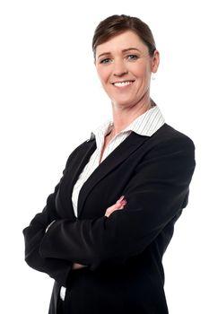 Cheerful confident businesswoman
